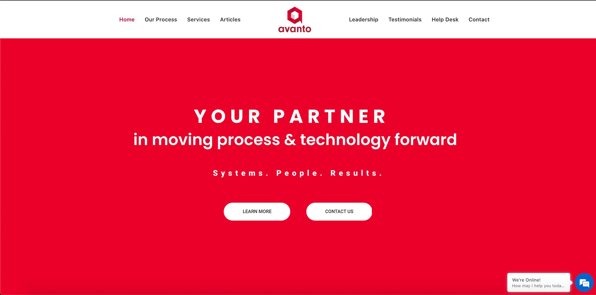 Avanto Website